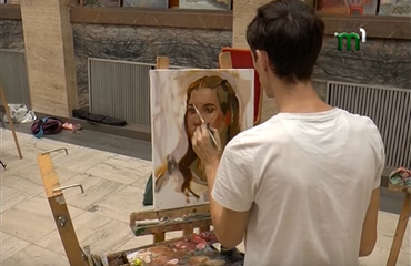 "Young artists painted at Transcarpathian Regional State Administration. The 3rd stage of the contest ""Silver Easel"" in the story by ""Tisza -1"" channel"
