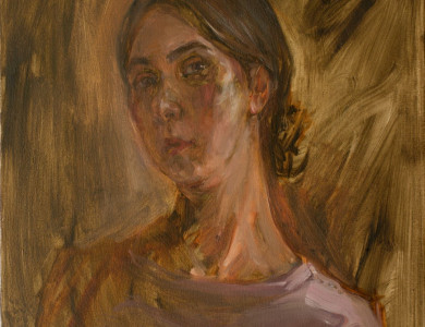 Ihnatsyeva Alena 'Портрет', п. о., 60х50 Ihnatsyeva Alena 'Portrait', oil on canvas, 60х50 (64)