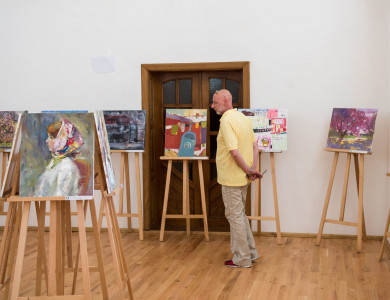"The exhibition of the All-Ukrainian Student Contest in Painting ""Silver Easel"" participants"