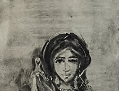 Горянка, монотипія / A Mountain Girl, monotype
