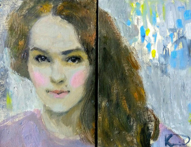 """Success story. Participant of """"Silver Easel"""" Kseniia Datsiuk presented """"Romantic"""" exhibition in Lviv"""