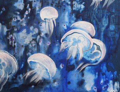 'Медузи', 2018, п.о., 60х80 / 'Jellyfish', 2018, oil on canvas, 60x80