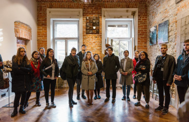 "Participants of ""Silver Easel"" visited the art couple Andrii and Olesia Voznytski"