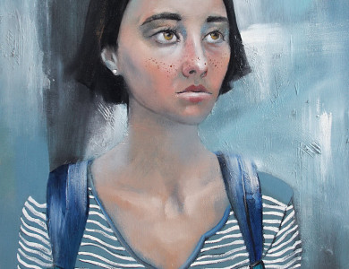 Портрет Тани, 2016, полотно, олія, 50х70 / Tania`s Portrait, 2016, oil on canvas, 50х70