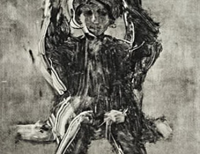 На гойдалці, монотипія / On The Swing, monotype