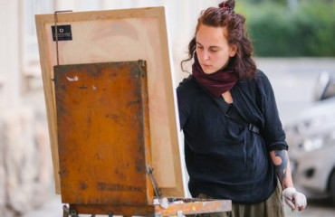 """Silver Easel"": a success story. Personal exhibition of Myroslava-Anastasiia Fedchenko"
