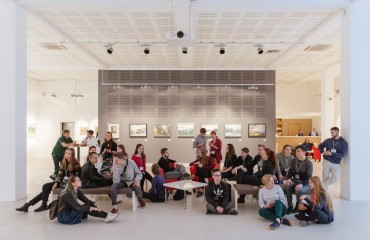 "Participants of ""Silver Easel"" visited an exhibition of watercolours  in the ""Ilko"" art centre"