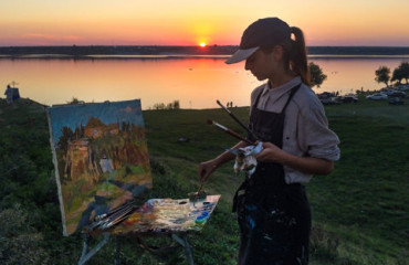 Plein air in honour of Petro Chakir